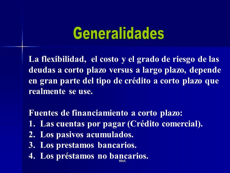 Rhvf.Almacenes generales de deposito. Arrendadoras financieras.