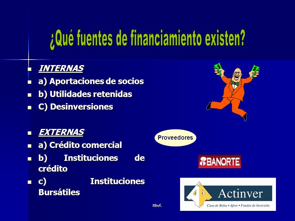 Rhvf.ESPONTANEAS ESPONTANEAS Cuentas por pagar a proveedores.