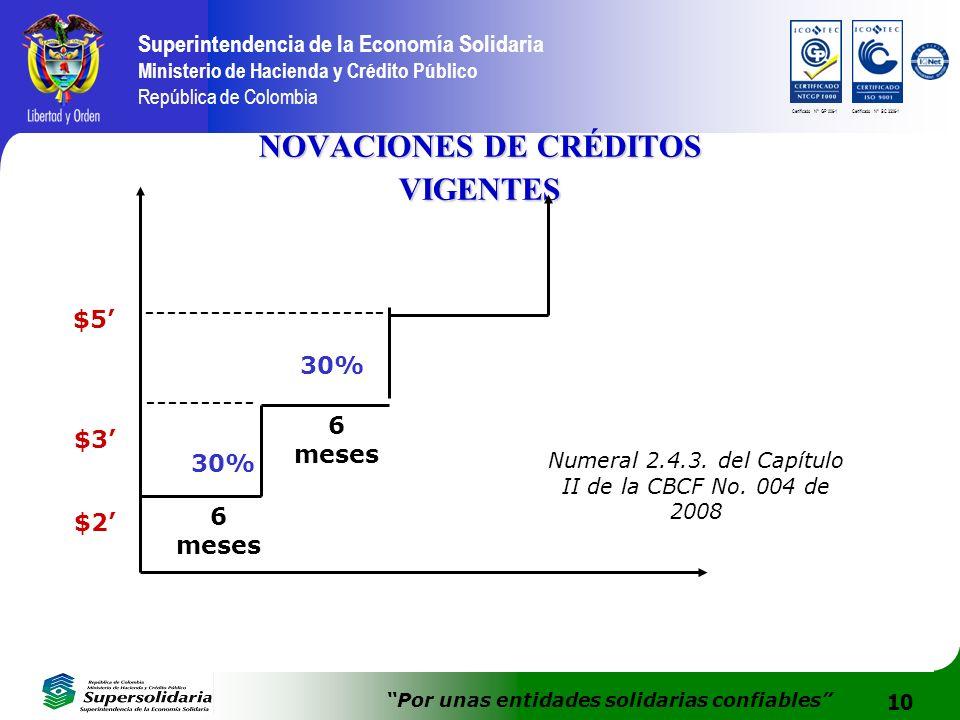 10 Superintendencia de la Economía Solidaria Ministerio de Hacienda y Crédito Público República de Colombia Por unas entidades solidarias confiables C