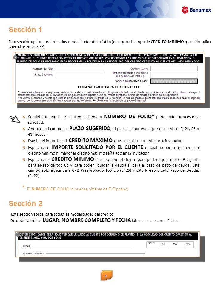 33 NUMERO DE FOLIO* Se deberá requisitar el campo llamado NUMERO DE FOLIO* para poder procesar la solicitud. PLAZO SUGERIDO Anota en el campo de PLAZO