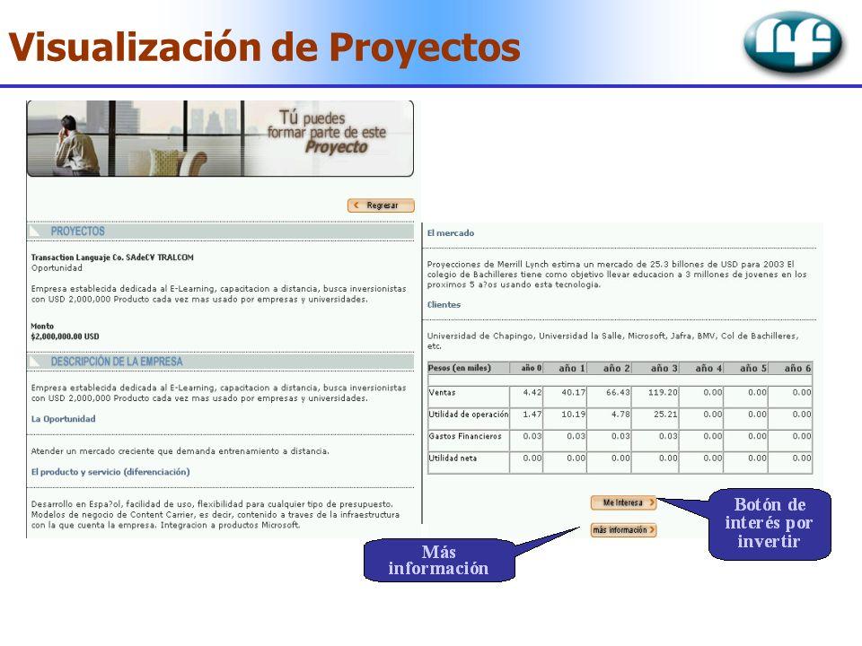 Visualización de Proyectos