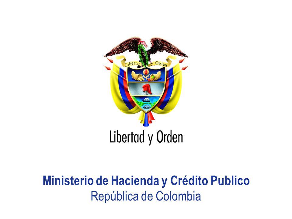 Ministerio de Hacienda y Crédito Publico República de Colombia Presentación MHCP_