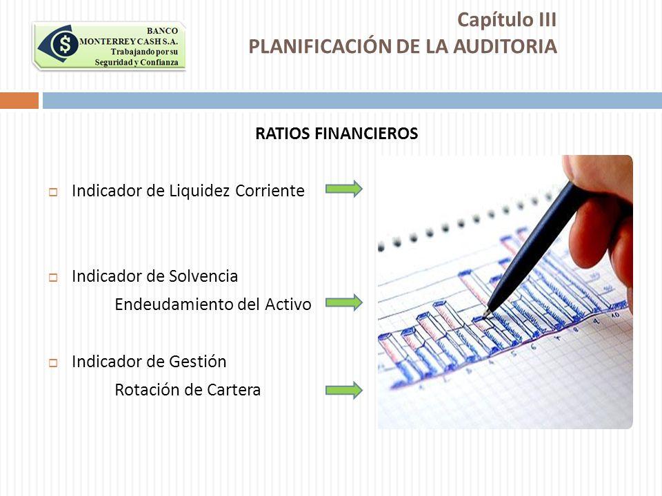 RATIOS FINANCIEROS Indicador de Liquidez Corriente Indicador de Solvencia Endeudamiento del Activo Indicador de Gestión Rotación de Cartera Capítulo I