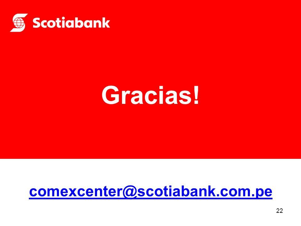 22 Gracias! comexcenter@scotiabank.com.pe