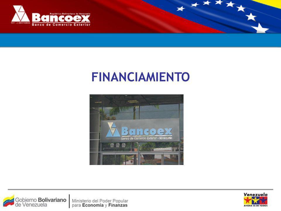 MARCO LEGAL El proceso de tramitación de créditos en BANCOEX se encuentra regulado por la normativa siguiente: Ley General de Bancos y Otras Instituciones Financieras Ley del Banco de Comercio Exterior Circulares emanadas de la Superintendencia de Bancos y Otras instituciones financieras (SUDEBAN) Normas Prudenciales SUDEBAN Convenios Cambiarios Nº 4 y 5 Providencias Nº 70 y 71 de CADIVI (Exportadores)