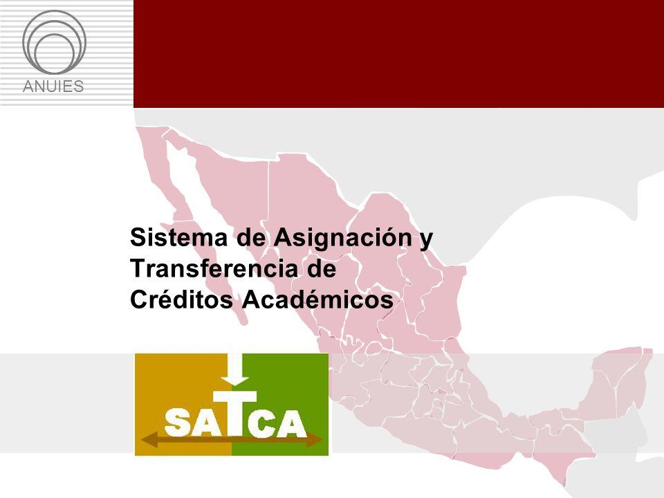 Propuesta: Sistema de Asignación y Transferencia de Créditos Académicos ANUIES Sistema de Asignación y Transferencia de Créditos Académicos