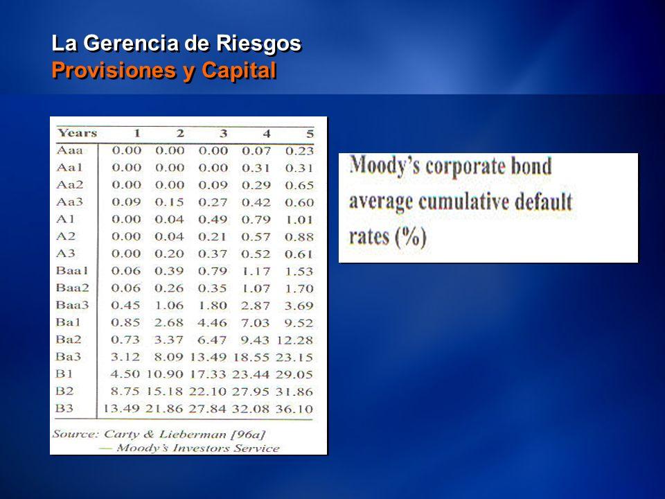 15 La Gerencia de Riesgos Provisiones y Capital