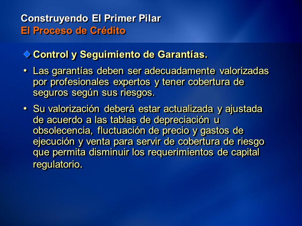 39 Construyendo El Primer Pilar El Proceso de Crédito Control y Seguimiento de Garantías.