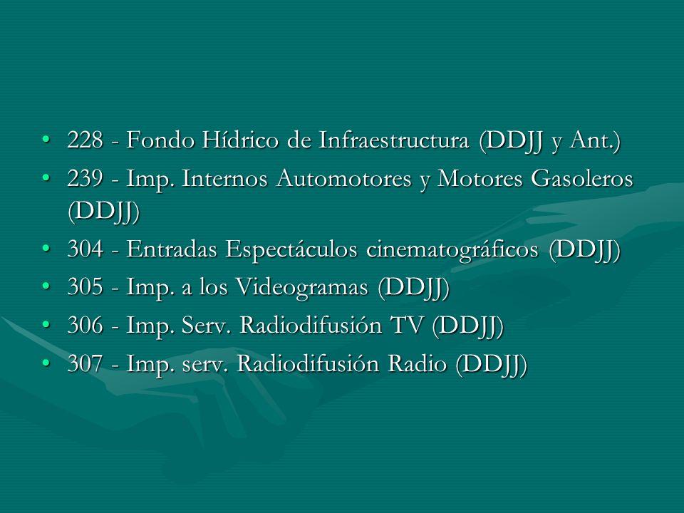 228 - Fondo Hídrico de Infraestructura (DDJJ y Ant.)228 - Fondo Hídrico de Infraestructura (DDJJ y Ant.) 239 - Imp.