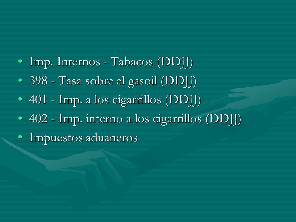 Imp. Internos - Tabacos (DDJJ)Imp.