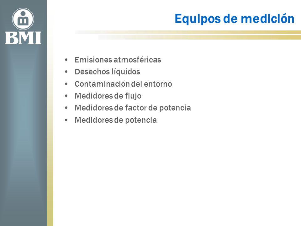 Equipos de medición Emisiones atmosféricas Desechos líquidos Contaminación del entorno Medidores de flujo Medidores de factor de potencia Medidores de