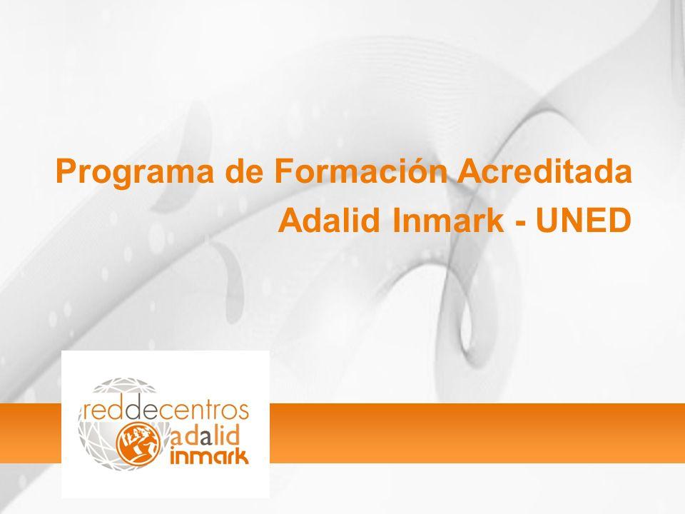 Programa de Formación Acreditada Adalid Inmark - UNED