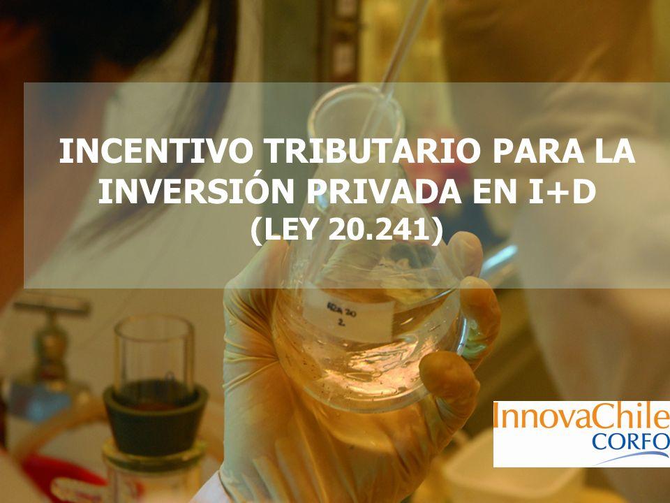 INCENTIVO TRIBUTARIO PARA LA INVERSIÓN PRIVADA EN I+D (LEY 20.241)