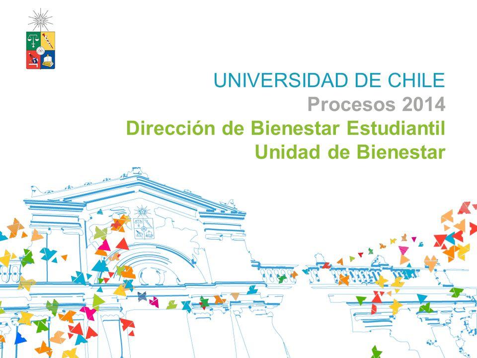 UNIVERSIDAD DE CHILE Procesos 2014 Dirección de Bienestar Estudiantil Unidad de Bienestar