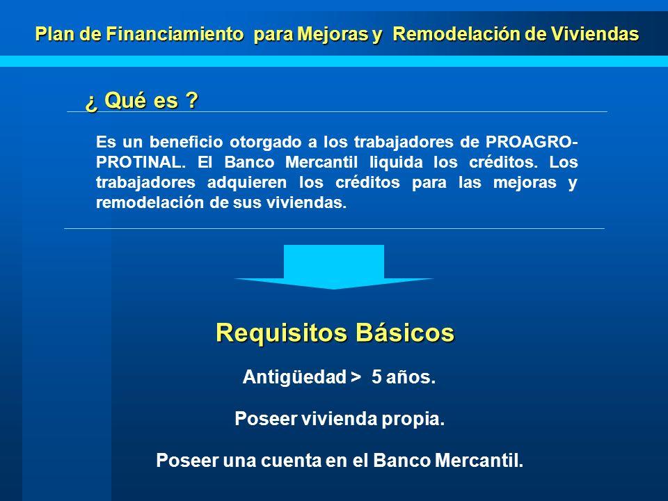 Plan de Financiamiento para Mejoras y Remodelación de Viviendas Trabajador Ahorros Ahorros Art.