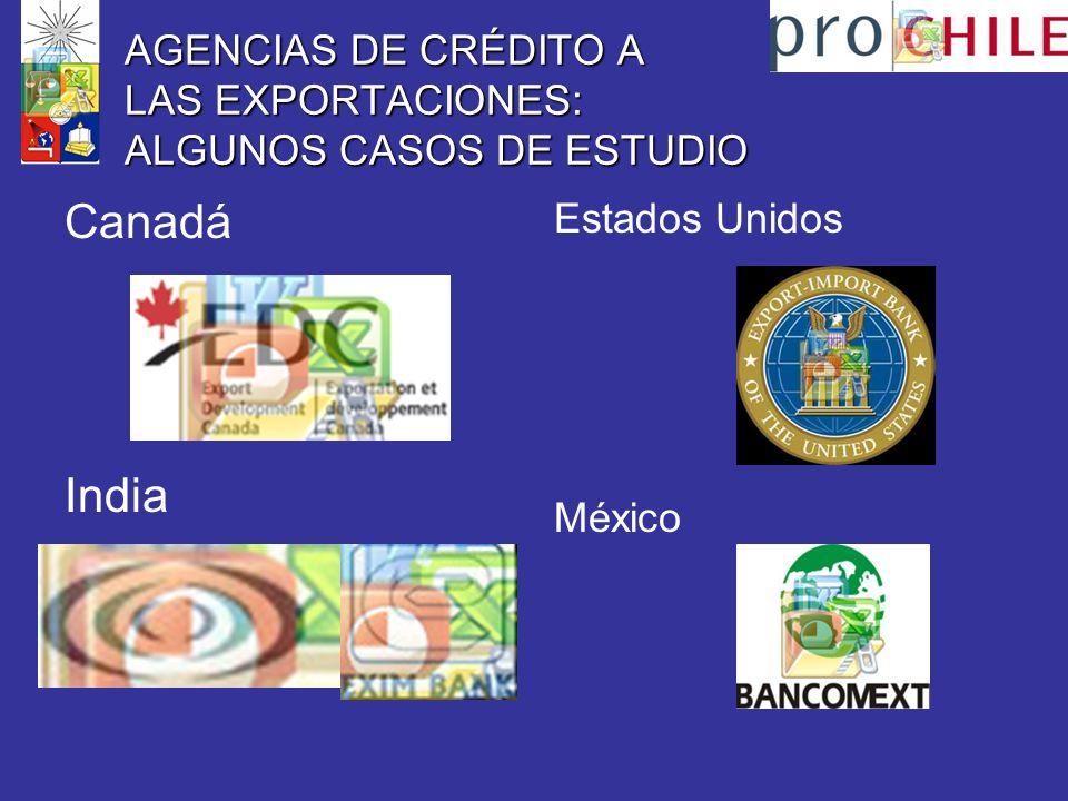 AGENCIAS DE CRÉDITO A LAS EXPORTACIONES: ALGUNOS CASOS DE ESTUDIO Canadá India Estados Unidos México