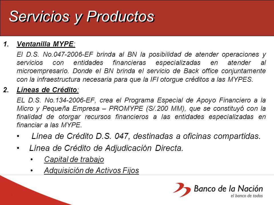 Servicios y Productos: