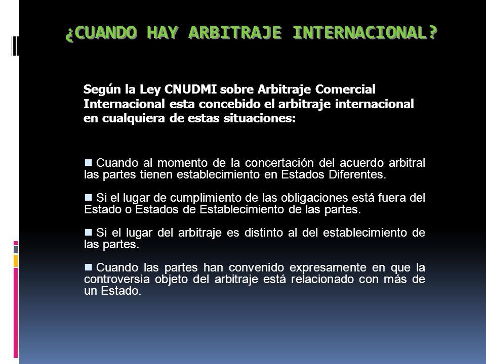 REGULACIÓN DEL ARBITRAJE INTERNACIONAL ART.62 LDIP...