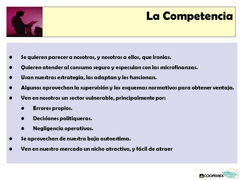 La Competencia Se quieren parecer a nosotros, y nosotros a ellos, que ironías.