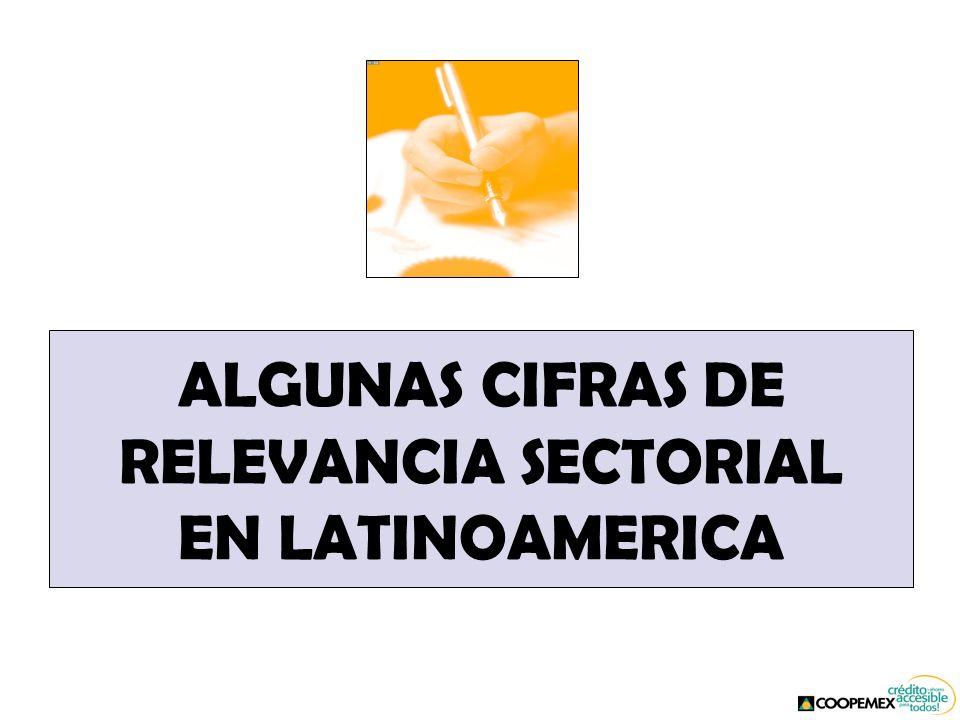 ALGUNAS CIFRAS DE RELEVANCIA SECTORIAL EN LATINOAMERICA