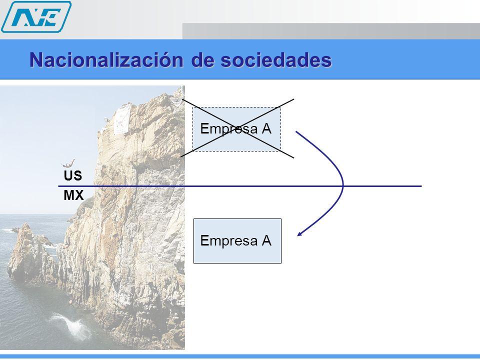 Nacionalización de sociedades US MX Empresa A