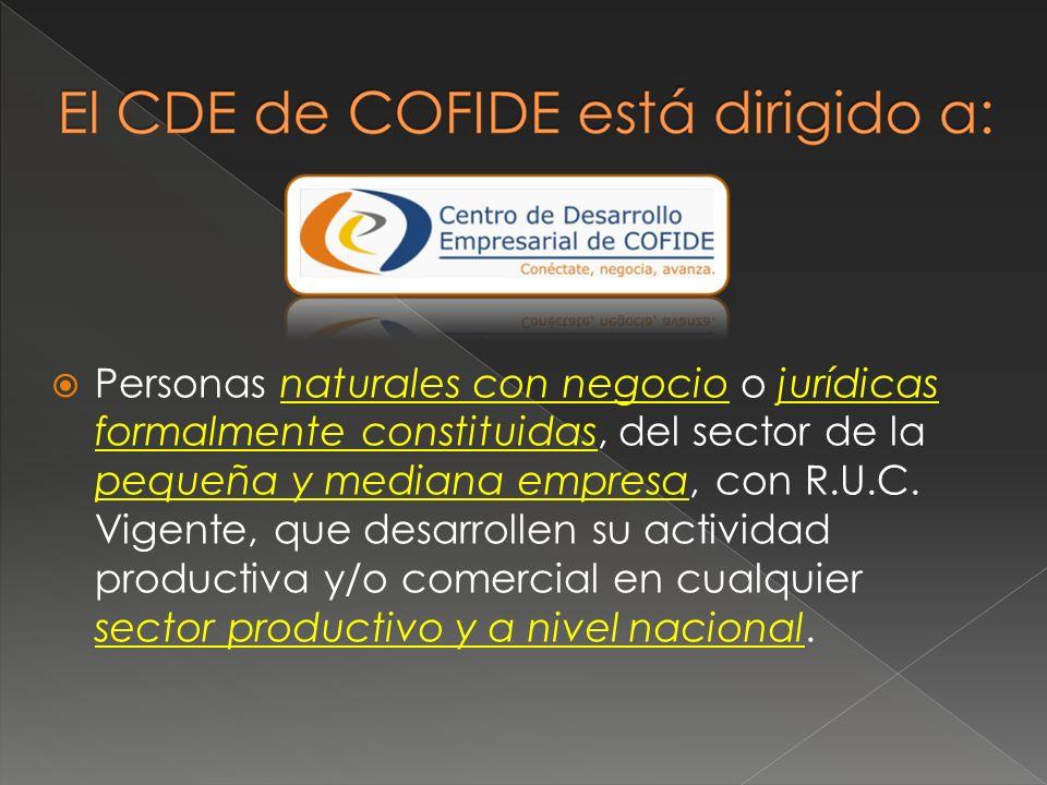 Personas naturales con negocio o jurídicas formalmente constituidas, del sector de la pequeña y mediana empresa, con R.U.C. Vigente, que desarrollen s