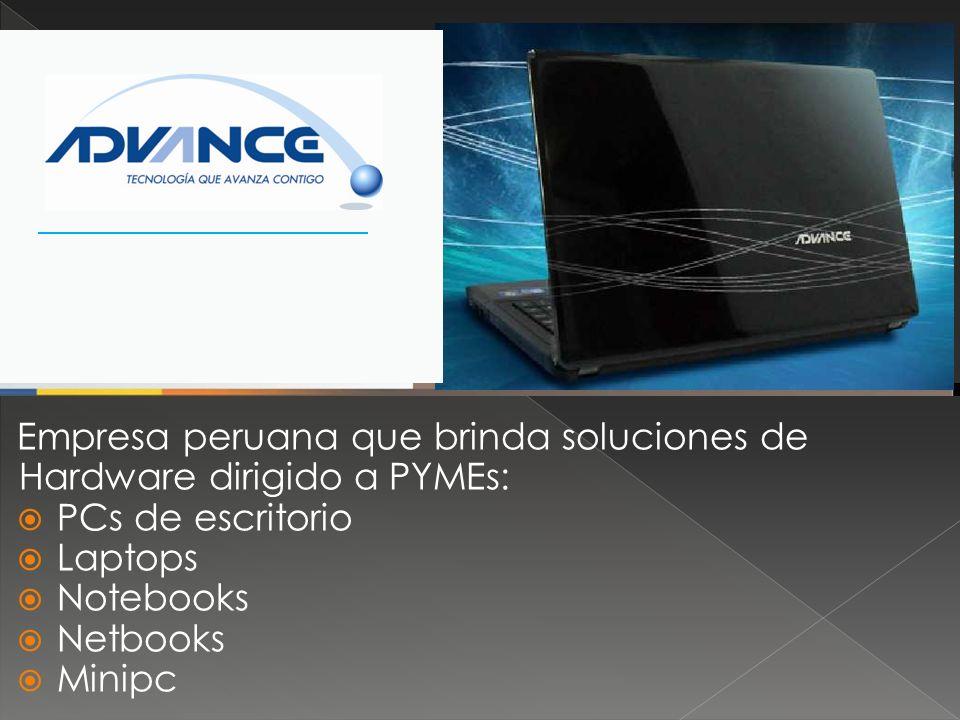 Empresa peruana que brinda soluciones de Hardware dirigido a PYMEs: PCs de escritorio Laptops Notebooks Netbooks Minipc