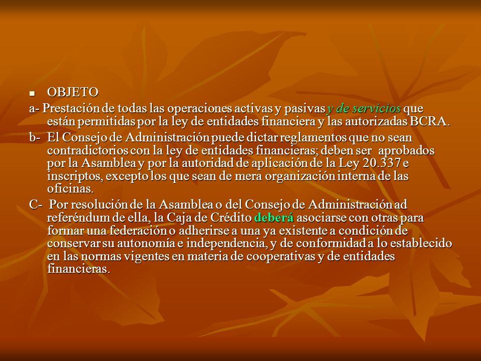 CAPÍTULO II: DE LOS ASOCIADOS: Podrá asociarse toda persona de existencia física o jurídica conforme estatuto, ley 20337 y ley de entidades financiera, normas como la 4712.