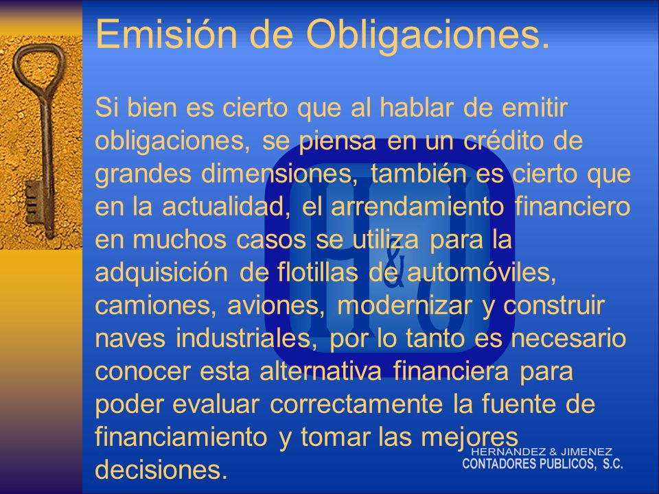 Emisión de Obligaciones.