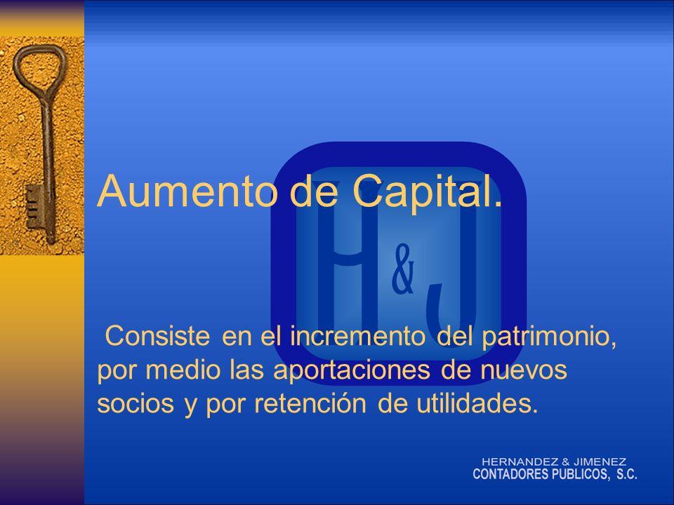 Aumento de Capital.