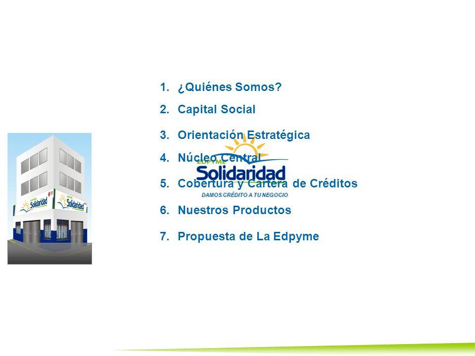 1.¿Quiénes Somos?¿Quiénes Somos? 2.Capital SocialCapital Social 3.Orientación EstratégicaOrientación Estratégica 4.Núcleo CentralNúcleo Central 5.Cobe