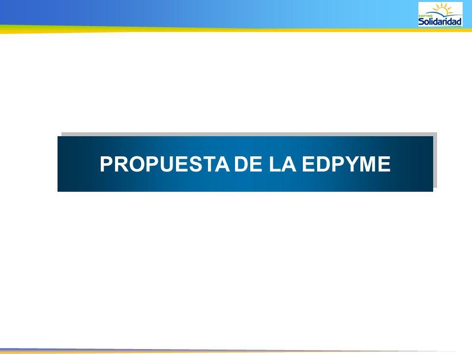 PROPUESTA DE LA EDPYME
