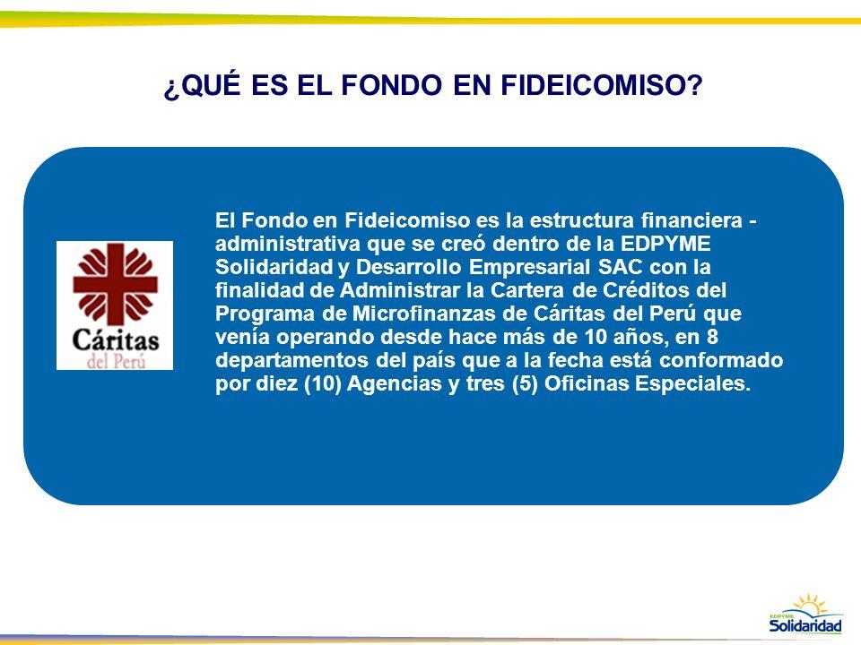 ¿QUÉ ES EL FONDO EN FIDEICOMISO? El Fondo en Fideicomiso es la estructura financiera - administrativa que se creó dentro de la EDPYME Solidaridad y De