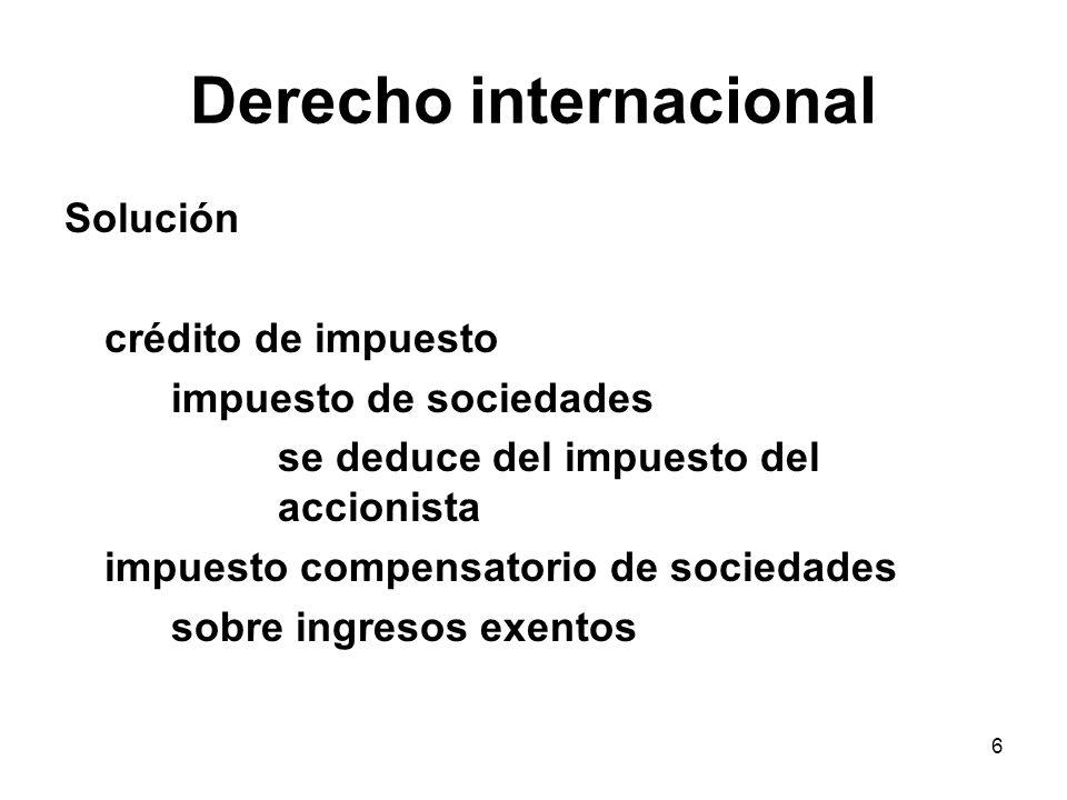 17 Dividendos Dividendos hacia el exterior Contrario a la libre circulación de capitales (art.