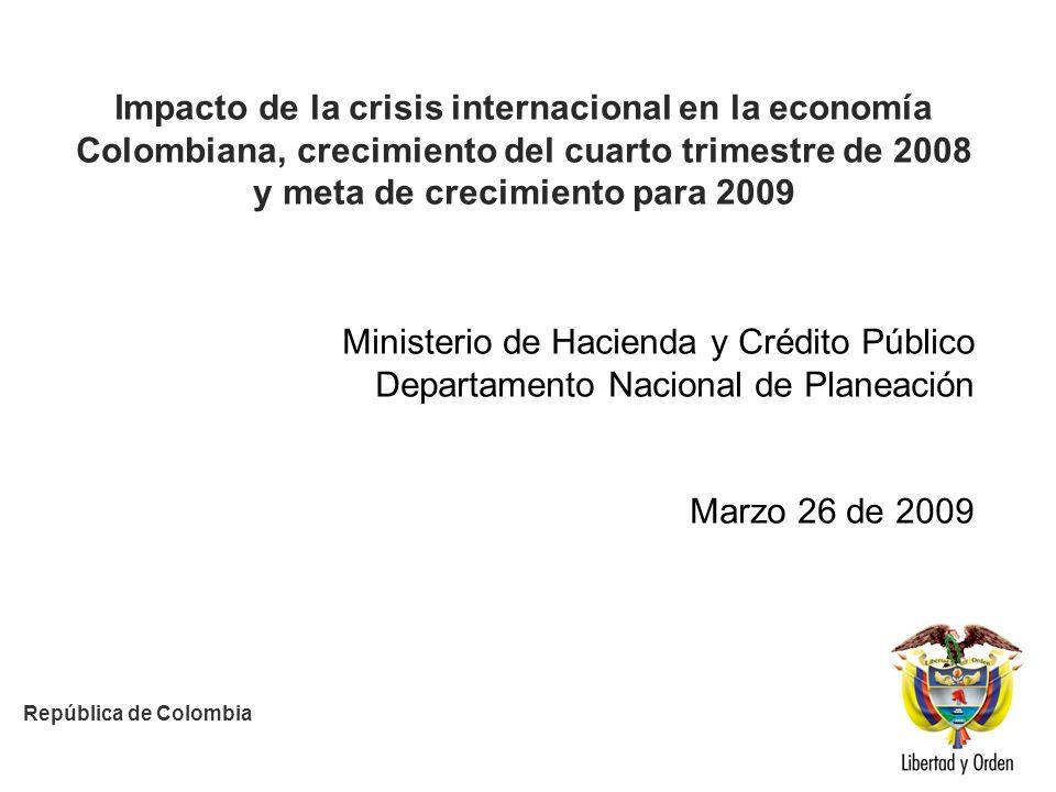 HACIA UN MINISTERIO AGIL, ACERTADO Y CONFIABLE Fuente: DANE Crecimiento de las exportaciones (Trimestral)* *Sin variación de existencias, el crecimiento de la FBKF fue de -4.1%