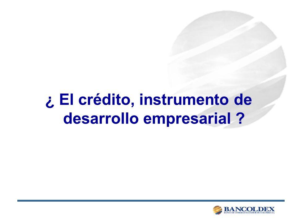 ¿ El crédito, instrumento de desarrollo empresarial