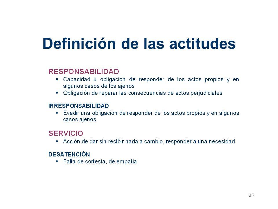 27 Definición de las actitudes