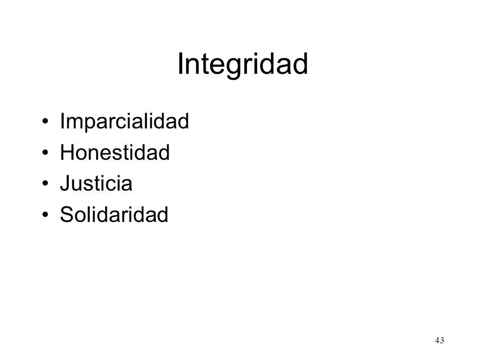 43 Integridad Imparcialidad Honestidad Justicia Solidaridad