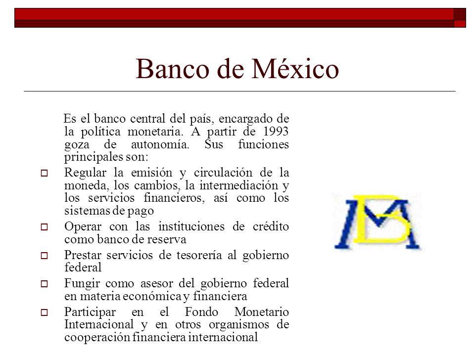 Secretaría de Hacienda y Crédito Público Es la autoridad máxima del Sistema Financiero Mexicano que ejerce sus funciones de supervisión y control por