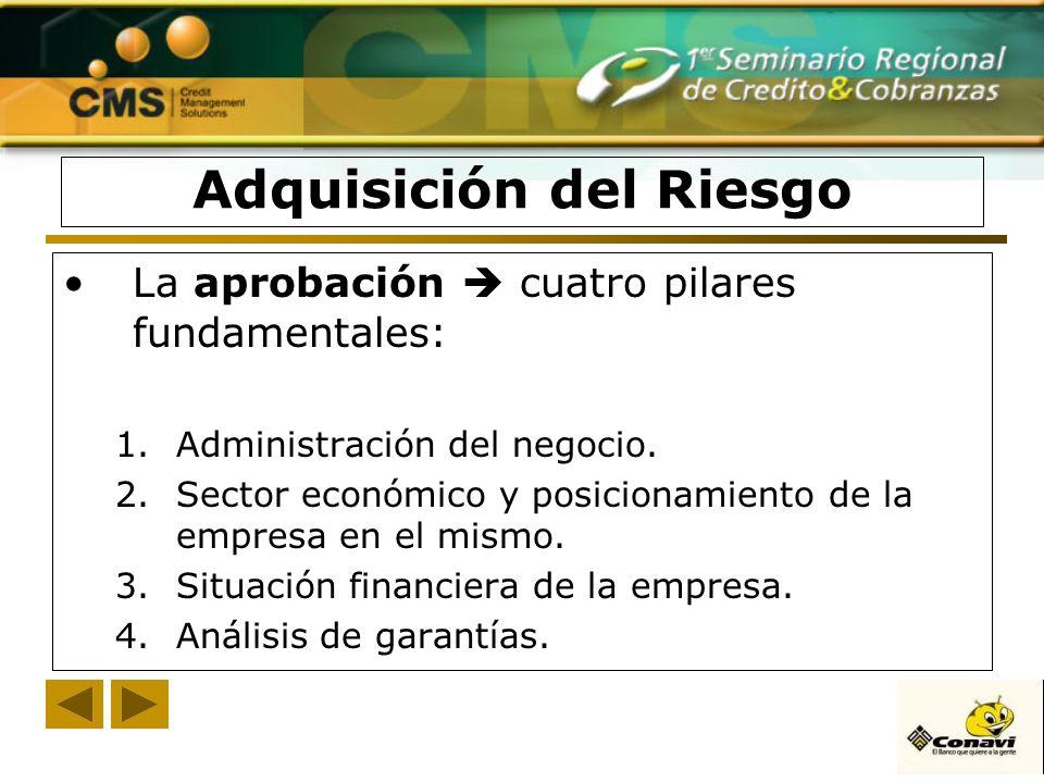 La aprobación cuatro pilares fundamentales: 1.Administración del negocio. 2.Sector económico y posicionamiento de la empresa en el mismo. 3.Situación