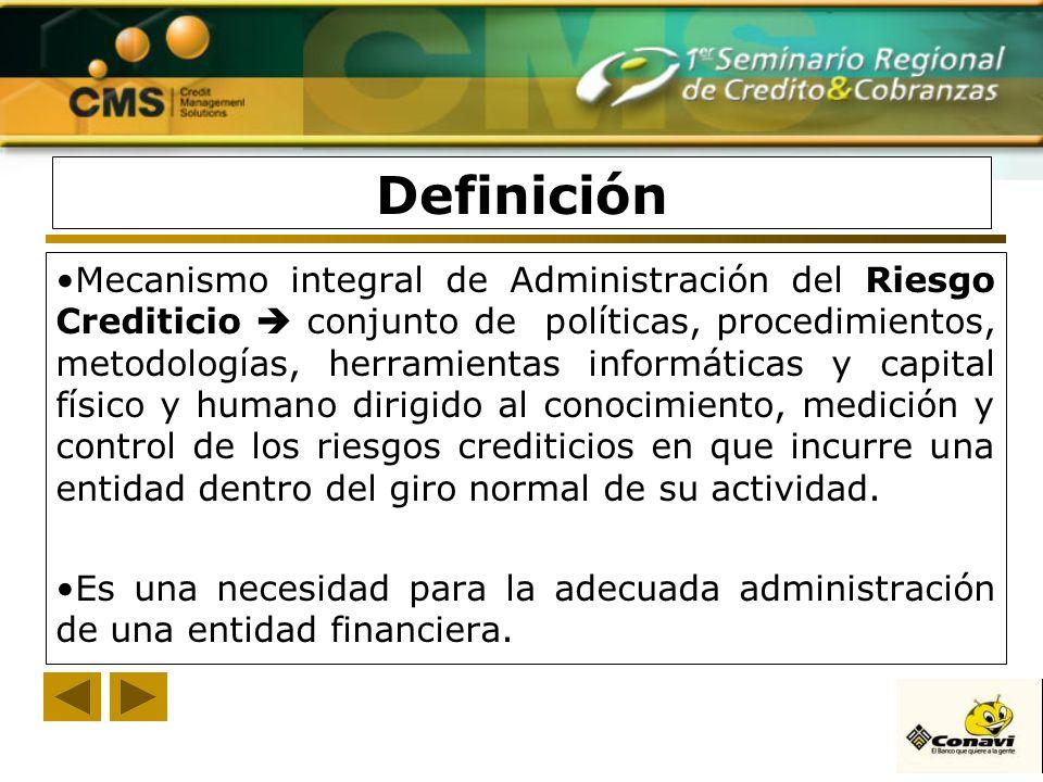 Mecanismo integral de Administración del Riesgo Crediticio conjunto de políticas, procedimientos, metodologías, herramientas informáticas y capital fí