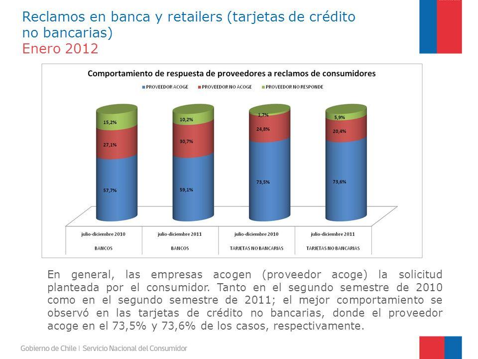 En general, las empresas acogen (proveedor acoge) la solicitud planteada por el consumidor.
