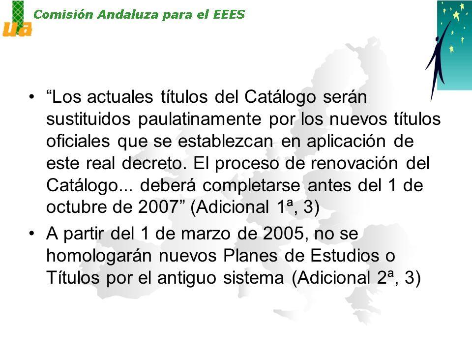 Los actuales títulos del Catálogo serán sustituidos paulatinamente por los nuevos títulos oficiales que se establezcan en aplicación de este real decreto.