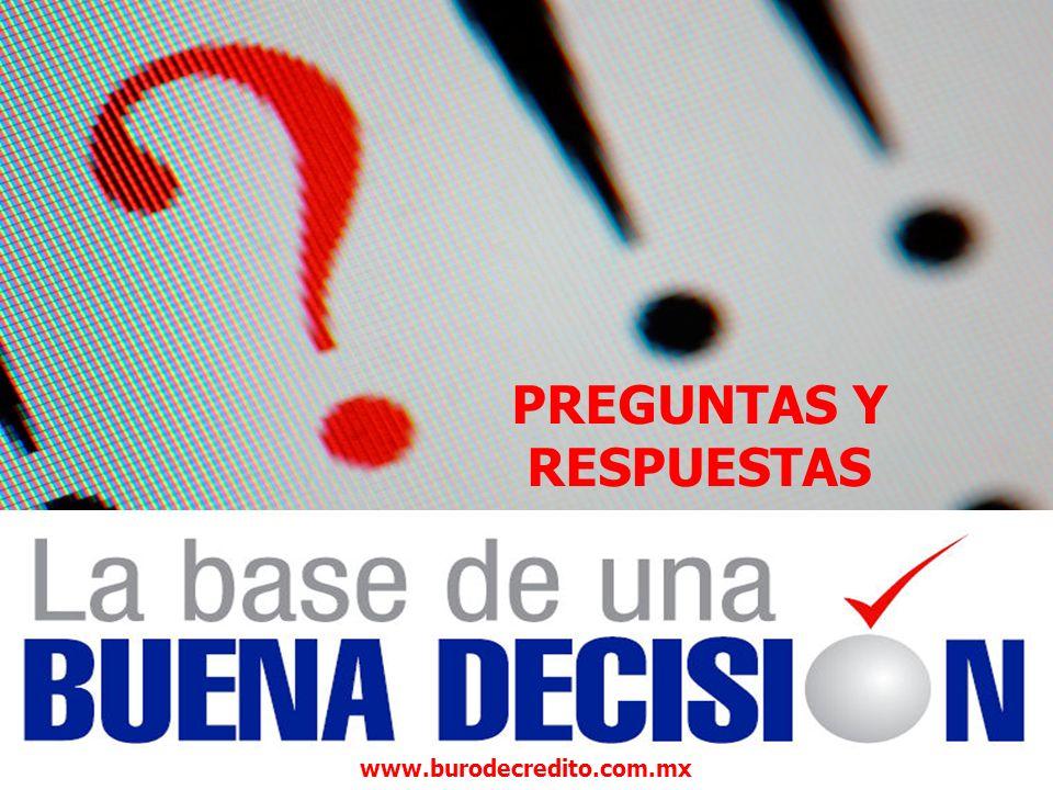 PREGUNTAS Y RESPUESTAS www.burodecredito.com.mx