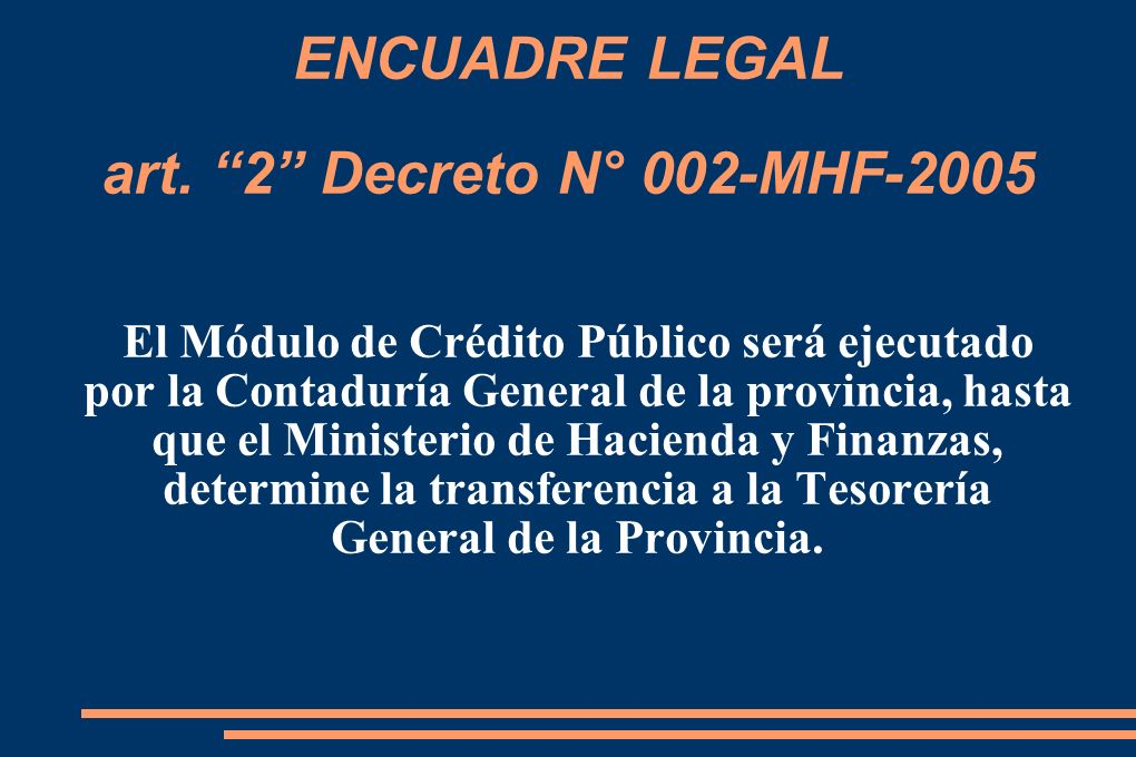 ENCUADRE LEGAL art.