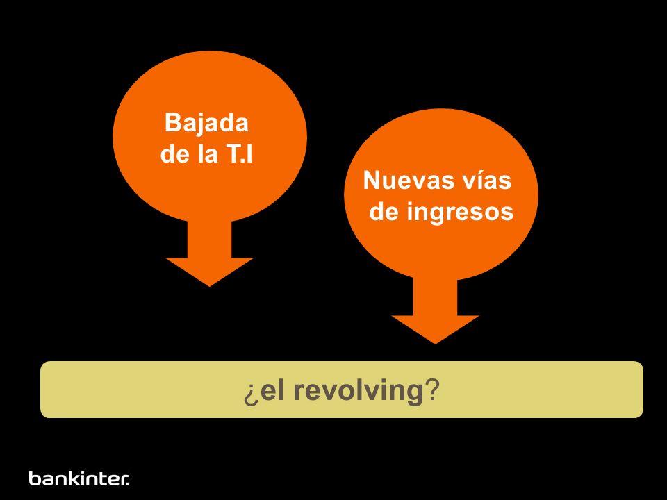 Bajada de la T.I Nuevas vías de ingresos ¿el revolving?