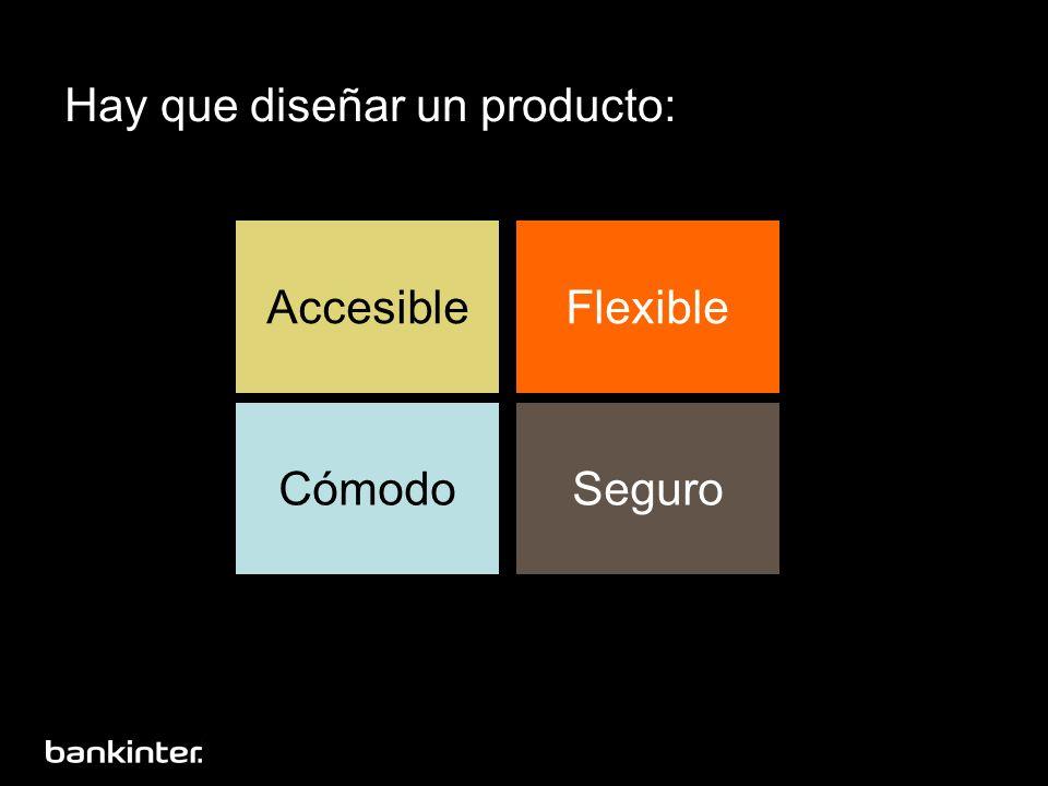 Hay que diseñar un producto: AccesibleFlexible CómodoSeguro