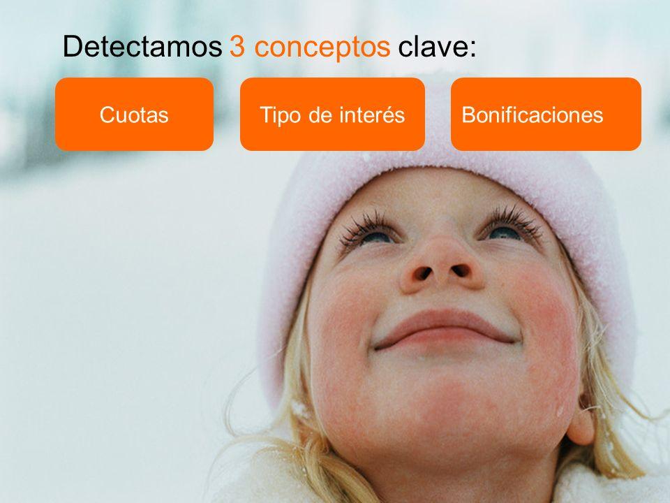 BonificacionesCuotasTipo de interés Detectamos 3 conceptos clave: