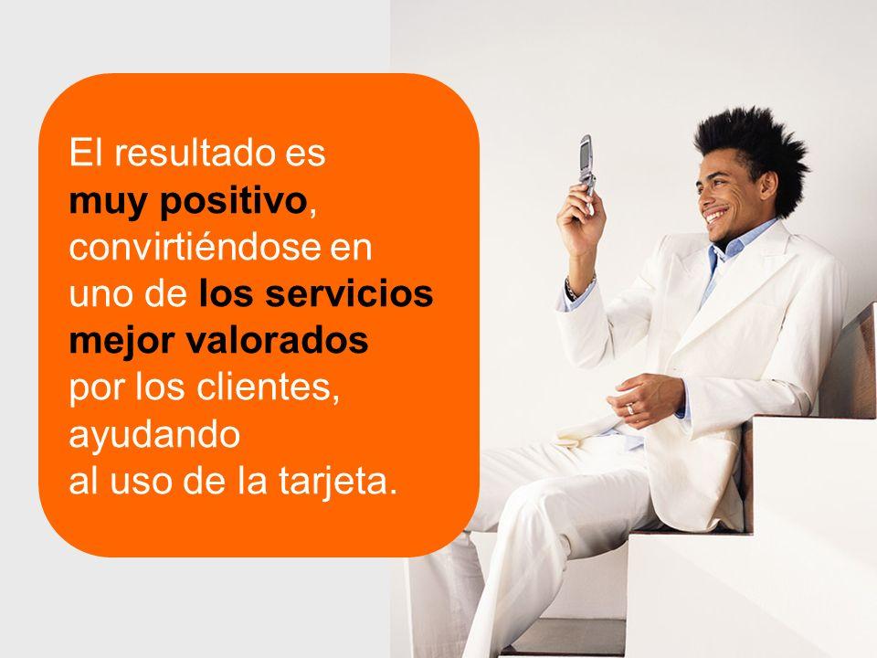El resultado es muy positivo, convirtiéndose en uno de los servicios mejor valorados por los clientes, ayudando al uso de la tarjeta.