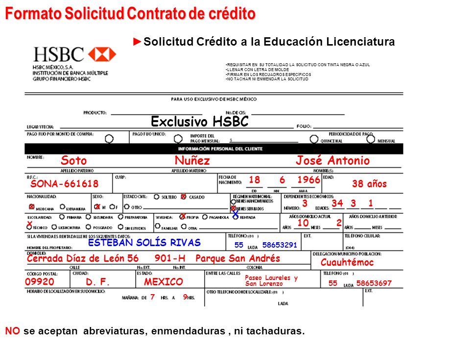 Documentación Solicitud contrato Identificación Oficial de ambos: Credencial de elector Pasaporte vigente Cédula Profesional (10 años máximo de antigü